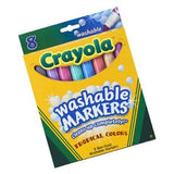 Crayola Washable Markers Tropical Colors 8 pack
