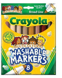 Crayola Washable Markers Multicultural Colors 8 pack