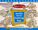 Jumbo Coloring Pad - Vehicle