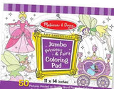 Jumbo Coloring Pad - Princess