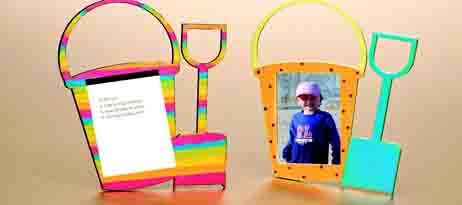 Pail and Shovel Picture Frame/Memo Pad Craft