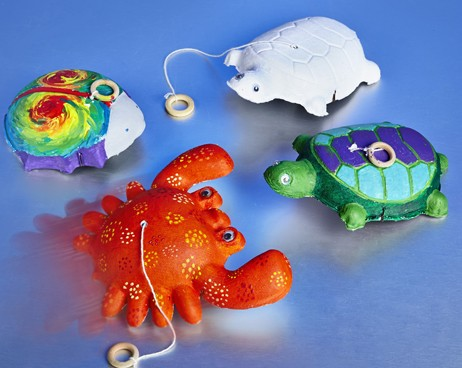 diy Pull Back Animals for animal arts and crafts, turtle and crab