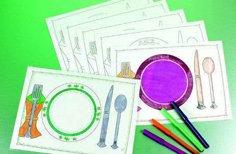 DIY Color-In Placemat Craft Project