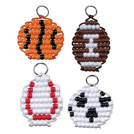 DIY Sports Ball Key Chains Craft Project