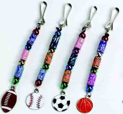 DIY Zipper Sports Charms Craft Project