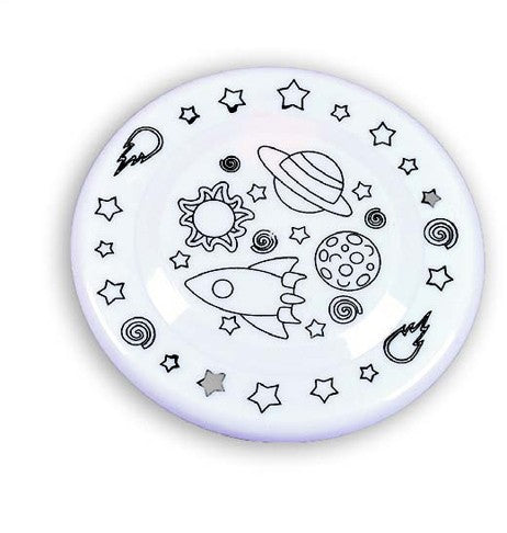 DIY Space Themed Frisbees