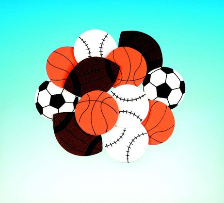 Sports Ball Foam Stickers