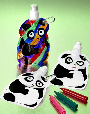 diy Color-in Teddy Bear Water Pouch for animal arts and crafts projects