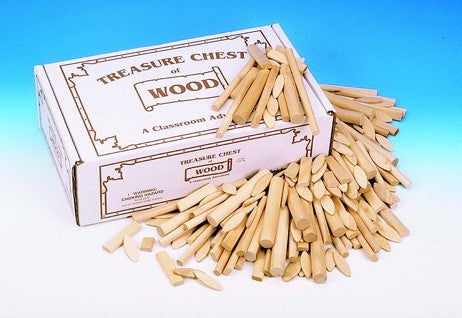 Treasure Chest Of Wood Shapes for diy arts and crafts wood projects