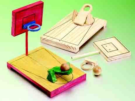 DIY Wooden Desktop Basketball Game Craft Project