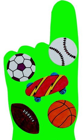 DIY Waving Sports Hand Craft Project