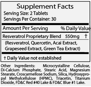 ResveraMD Resveratrol Antioxidants Ingredients
