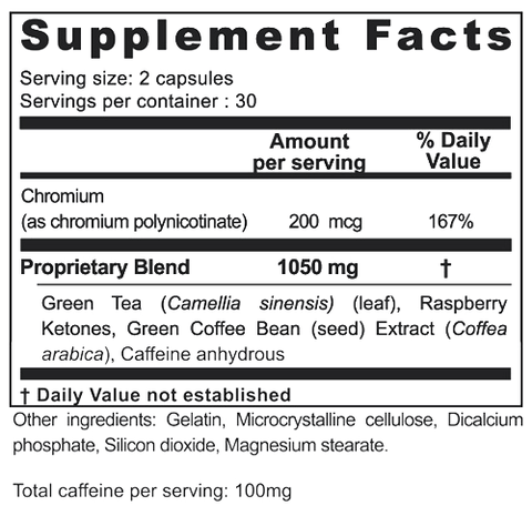 Raspberry Ketone Force Ingredients