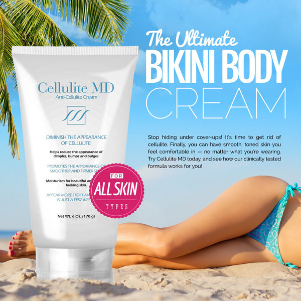 Cellulite MD -  Natural Skin Cream - Firm and Tighten Skin - Targets Fat Cells - Treat Cellulite