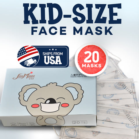 Kid-Size Face Mask - SiinMaax- Ships From USA