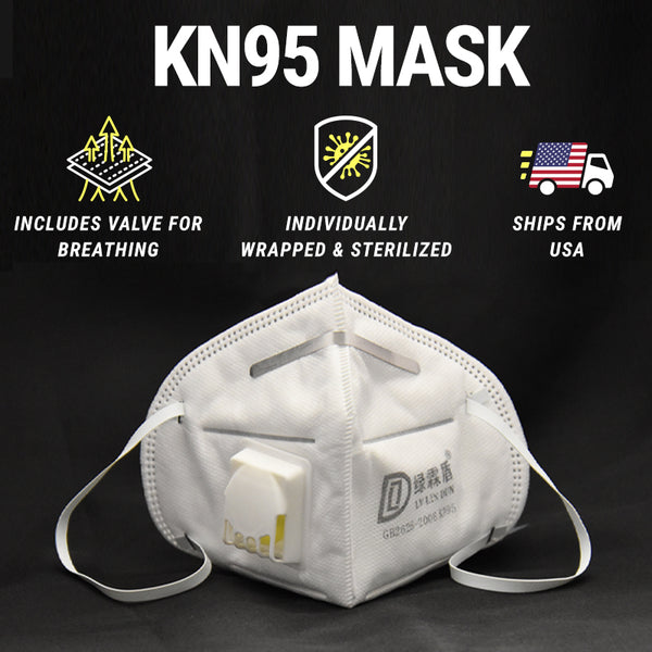 KN95 Face Mask Bulk Quantity - 95% Filtration Efficiency - Anti Pollution & Dust Protection - Ships From USA