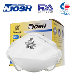 N95 Face Mask - Premium Grade 95% Filtration Efficiency - NIOSH Certified-  Protects from Viral Particles - 20 Masks
