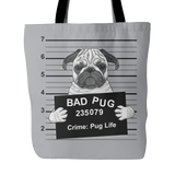"Durable ""Bag Pug"" Tote Bag"