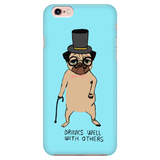 "Cool ""Drinks Well With Others"" Pug Phone Case"