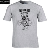 """Go Hard"" Men's Pug T-Shirt"