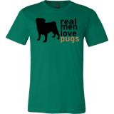 "Men's ""Real Men Love Pugs"" T-Shirt"