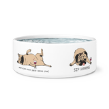 "Awesome ""Sip Happens"" Dog Bowl"
