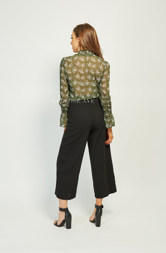 Zea Top | Green Floral
