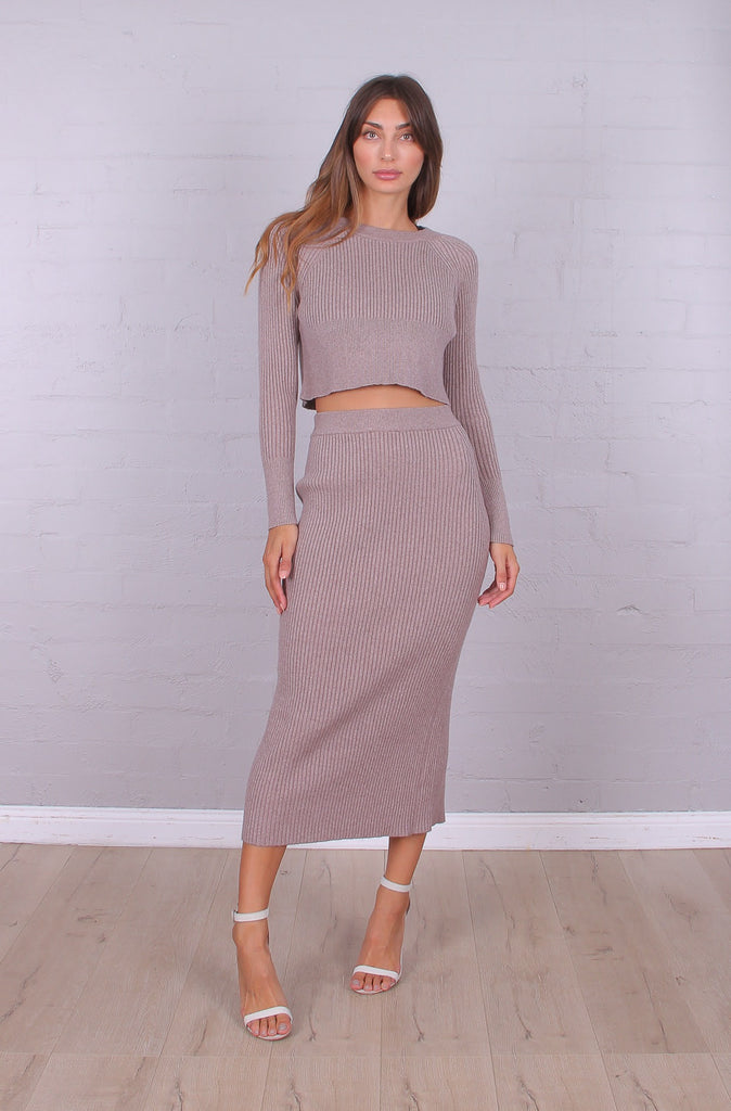 Samantha Knit Midi Skirt