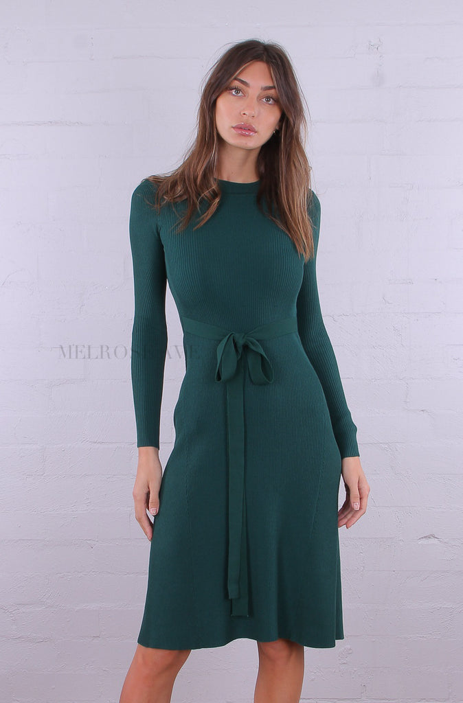 Sally Knit Midi Dress | Long Sleeves | Emerald