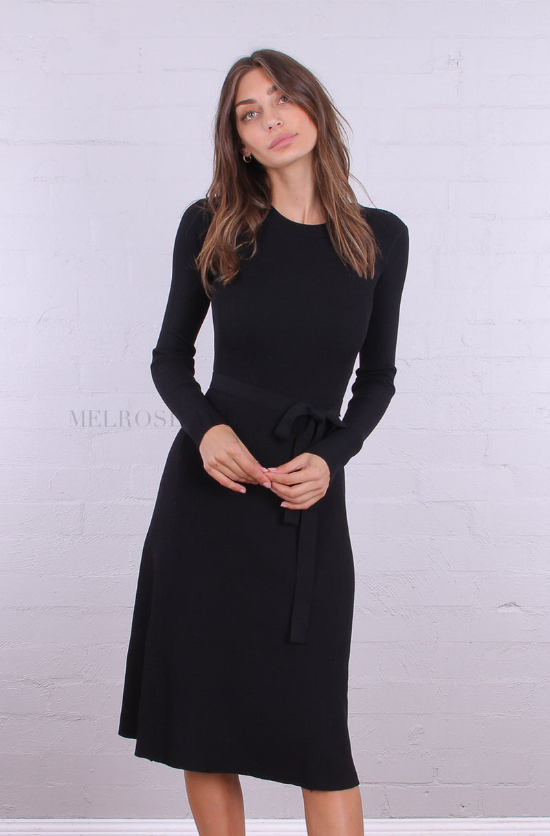 Sally Knit Midi Dress | Long Sleeves