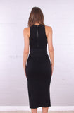 Karen Midi Dress | Black