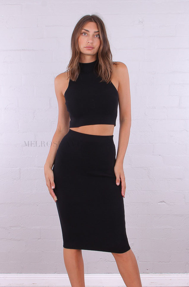 Nova Crop Top | Black