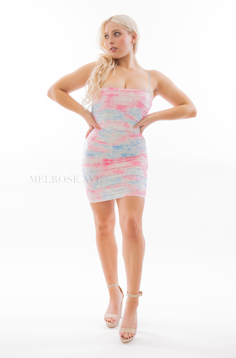 Brooke Mini Dress | Tied-dye