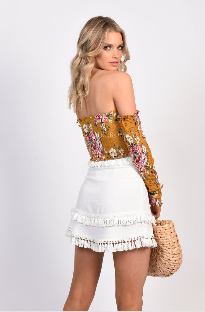 Don't Tassel Me Mini Skirt