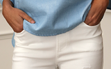 White Jeggings Pockets front and back Tears along both legs Jagged Pants