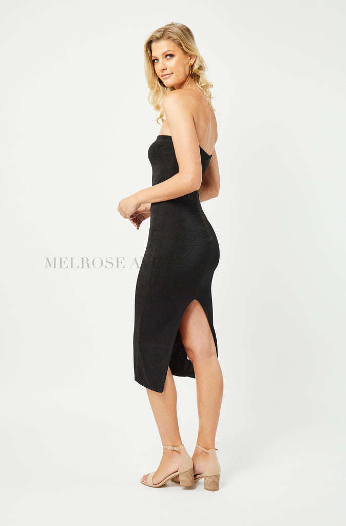 Alessia Bodycon Midi Dress | Black