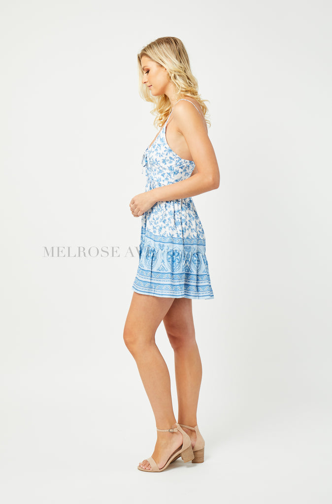 Eden Mini Dress | Blue Floral