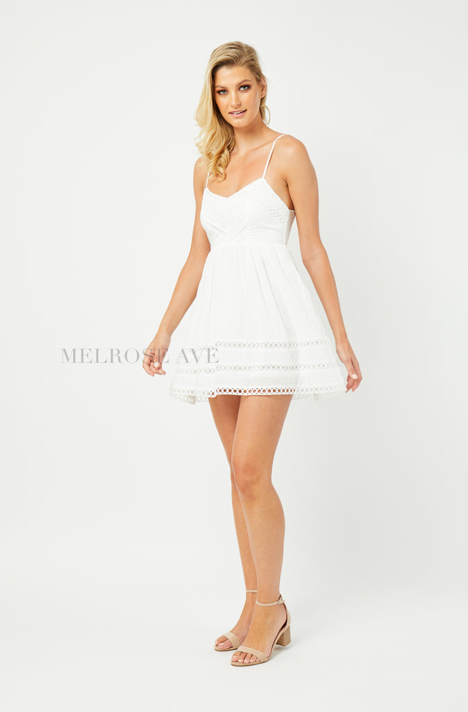 Serena Mini Dress | White