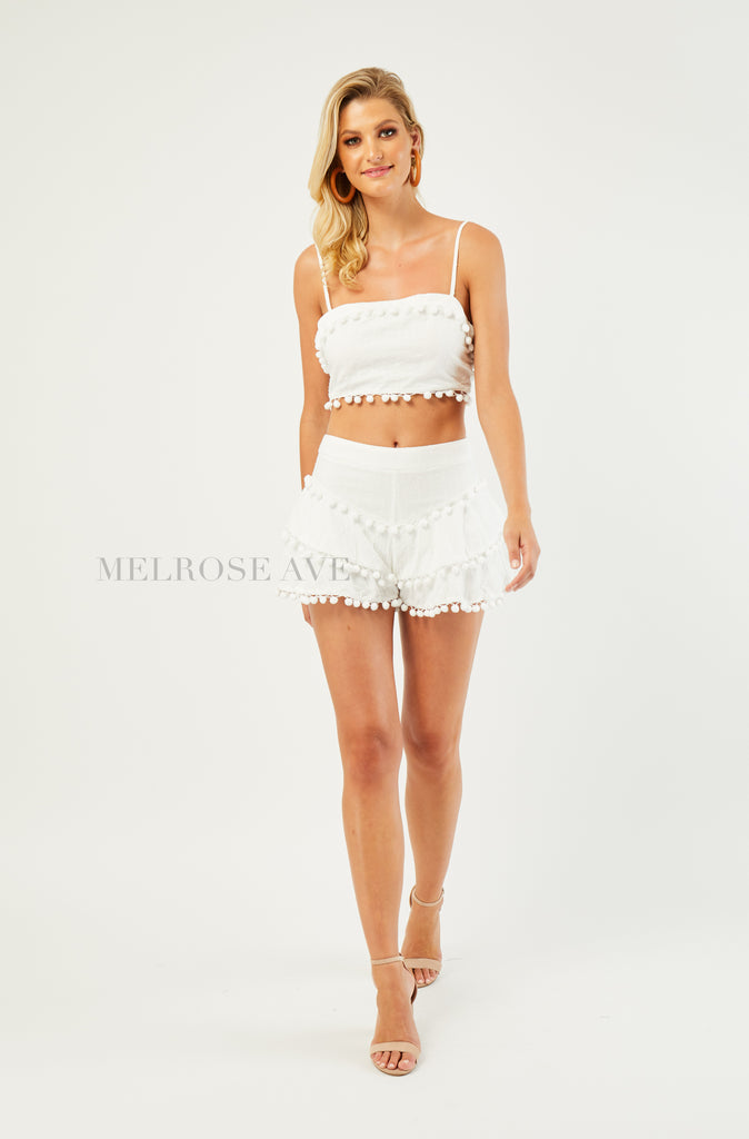 Summer Vibe Crop Top | White