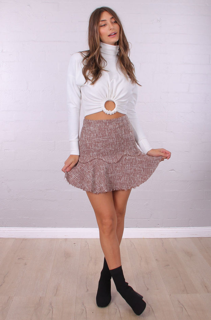 Kami Mini Skirt | Tweed