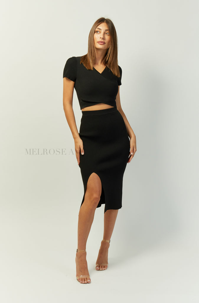 Greta Midi Skirt | Black