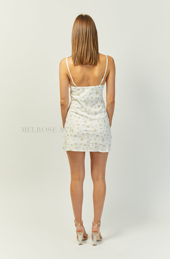 Isla Mini Dress | White | Floral