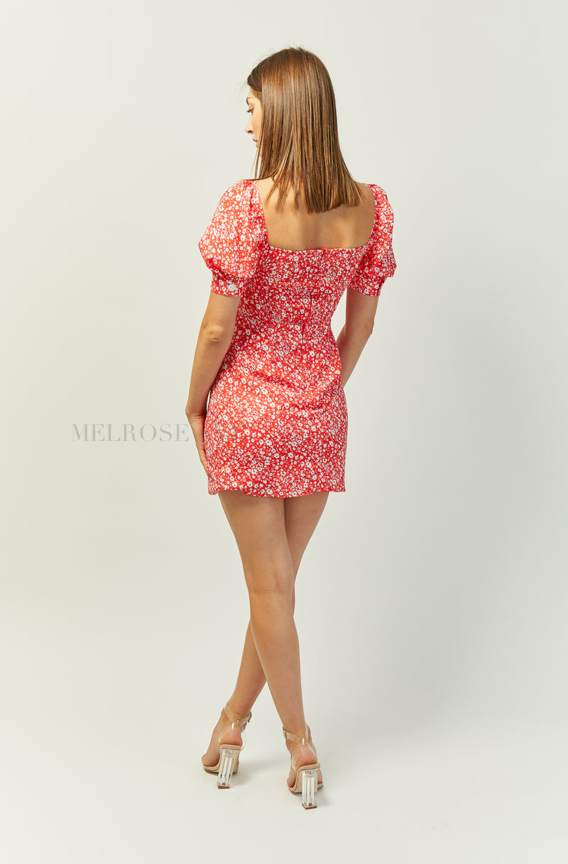 Addicted To You Mini Dress | Red | Floral