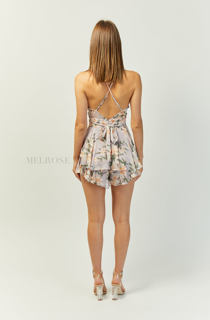 Cadence Playsuit | Lilac | Floral