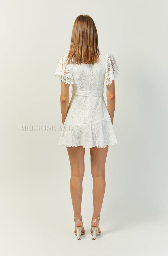 Clarissa Lace Dress  | White