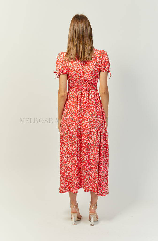 Annalise Maxi Dress | Red | Floral