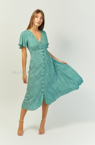 Mae Midi Dress | Polka Dot