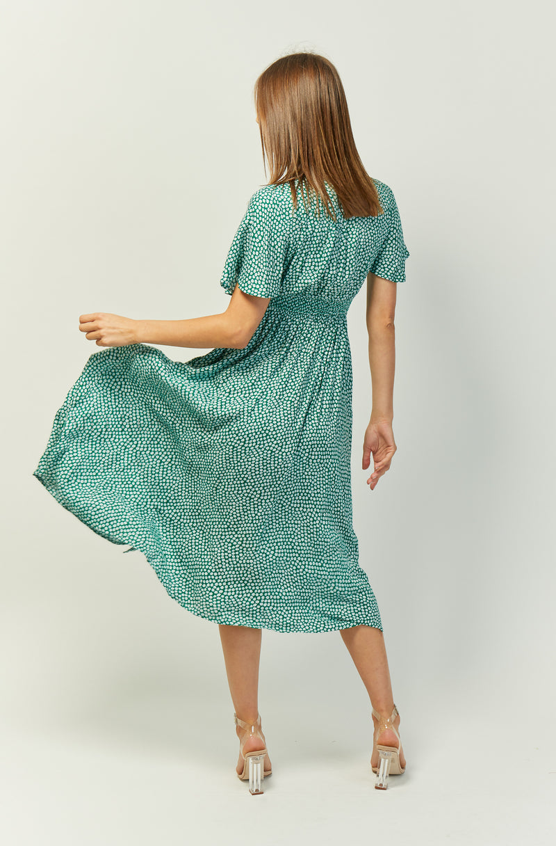 Iris Maxi Dress | Green | Flowerfield
