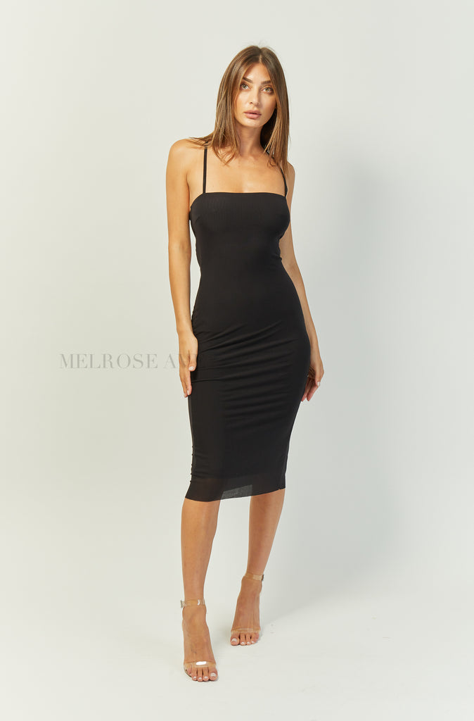 Margot Midi Dress | Black