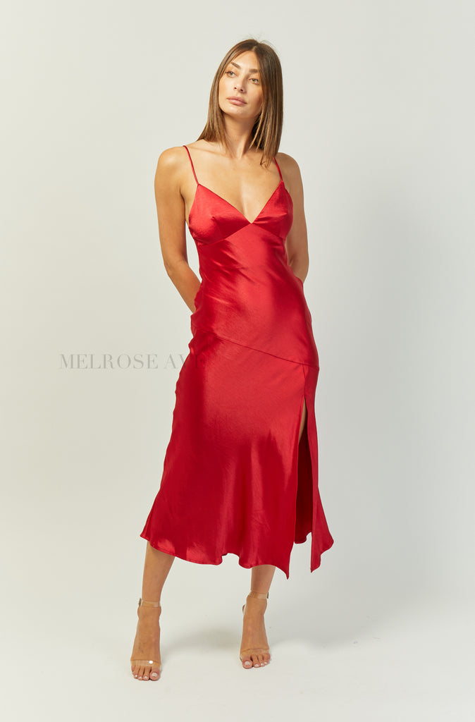Khaleesi Maxi Dress | Red